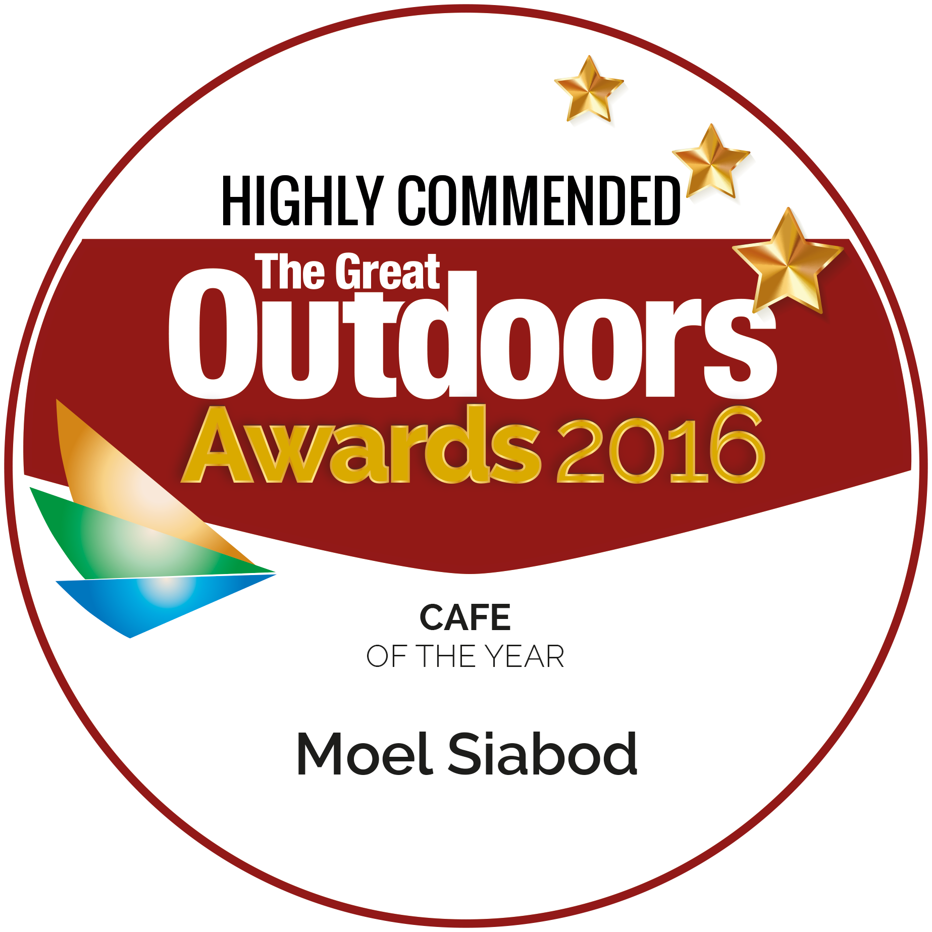 Highly commended award from The great outdoors 2015